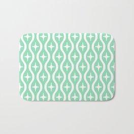 Mid century Modern Bulbous Star Pattern Mint Green Bath Mat