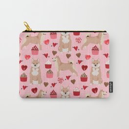 Shiba Inu valentines day love pet dog lover unique dog breeds pet portraits custom designs Carry-All Pouch