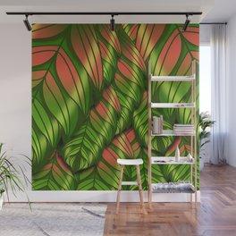 The Dusk Plumed Leaf Wall Mural