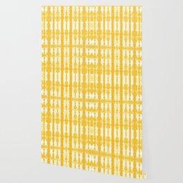 Yellow Tiki Shibori Wallpaper