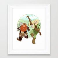 lotr Framed Art Prints featuring LotR- Legolas & Gimli by Firehouselight