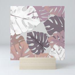 Rose Marble Monstera Mini Art Print