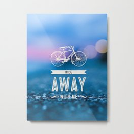 Ride Away Metal Print
