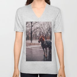 NYC Horse and Carriage Unisex V-Neck