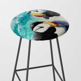 Puffins - Always together - by LiliFlore Bar Stool