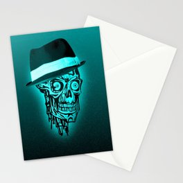 Elegant Skull with hat,mint Stationery Cards