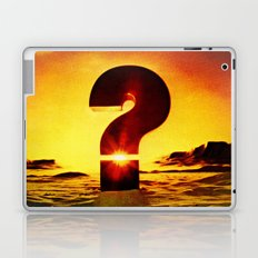 Vintage 1970's Question Mark With Sunset Laptop & iPad Skin