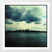 skyline Art Prints featuring Skyline by Naomi Atkinson