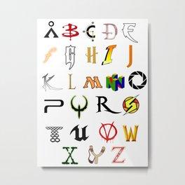 The Alphabet of geekdom Metal Print