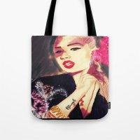 iggy azalea Tote Bags featuring Iggy Azalea by The Expression Studio