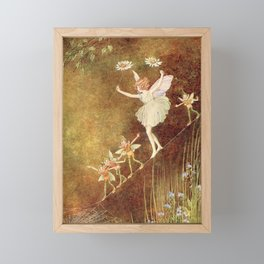 """""""It Was Difficult at First"""" by Ida Rentoul Outhwaite (1916) Framed Mini Art Print"""