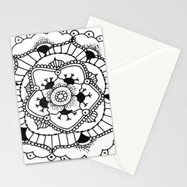 Black and White Manadala Pt 3 Stationery Cards