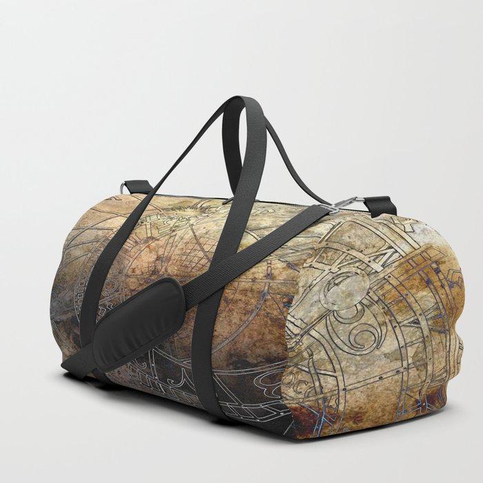 Ancient Astrology Clock Duffle Bag