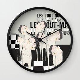 « les tout-nus ll » Wall Clock