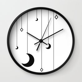 Kennah's Dream in Black and White Wall Clock