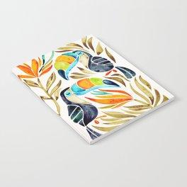 Tropical Toucans – Sepia Palette Notebook