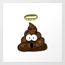Holy Crap! - Bathroom Humor - Poop - 57 Montgomery Ave Art Print