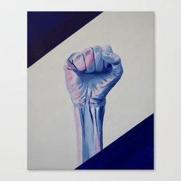 Resist fist, Trans Pride resist fist, Transgender art Canvas Print
