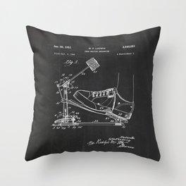 Drum Beating Mechanism Patent Throw Pillow