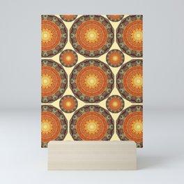 Rust-Art / mandala-style-rust Mini Art Print