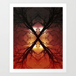 Quad Tree #1 Art Print