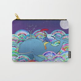 Happy Whale Carry-All Pouch