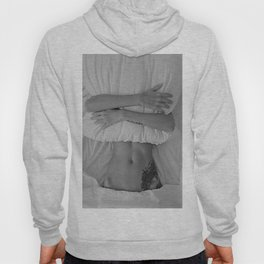 Mission: Get out of bed ... Status: Close enough! black and white morning photograph / photography Hoody