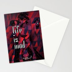 Life is Mad Stationery Cards