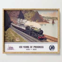 100 Years of Progress, 1835-1935. GWR Vintage Travel Poster Serving Tray