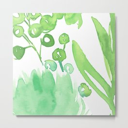 Abstract floral & square #9 Metal Print