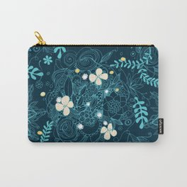 Dark floral delight Carry-All Pouch