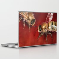 bees Laptop & iPad Skins featuring Bees by Dana Martin
