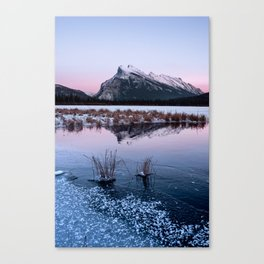 Silent Sunset over Mt. Rundle Canvas Print