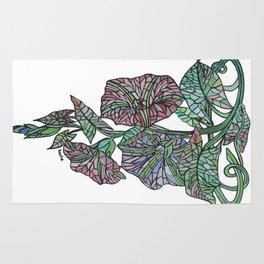 Art Nouveau Morning Glory Isolated Rug