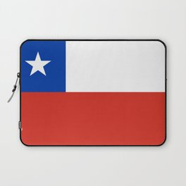 flag of Chile- -Spanish,Chile,chilean,chileno,chilena,Santiago,Valparaiso,Andes,Neruda. Laptop Sleeve