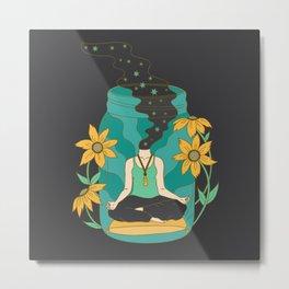 Meditation in a Jar Metal Print