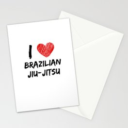 I Love Brazilian jiu-jitsu Stationery Cards
