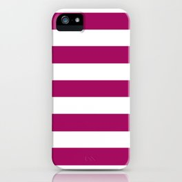 Jazzberry jam -  solid color - white stripes pattern iPhone Case