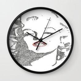 Marilyn Monroe written portrait Wall Clock