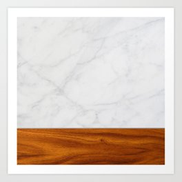 Marble and Wood 2 Art Print