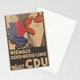 Vintage poster - Oder-Neisse Line Stationery Cards