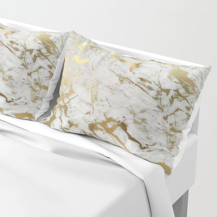 Gold marble Kissenbezug