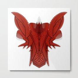 Ramshackler Red Metal Print