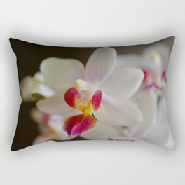 White Orchid Close Rectangular Pillow