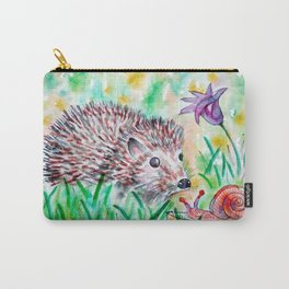 Baby Hedgehog And Snail Carry-All Pouch