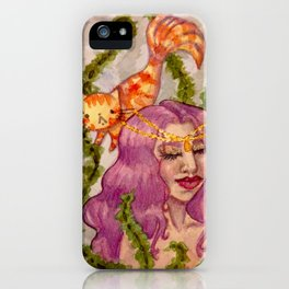 Mermaid and MerCATs iPhone Case