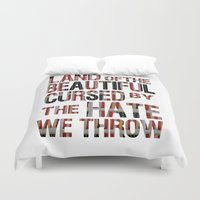 the national Duvet Covers featuring National Anthem by Veronica Rogers