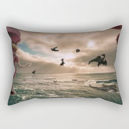 Flying With Friends - Super Smash Brothers Rectangular Pillow