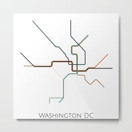 Washington DC Subway - Metro Map Metal Print