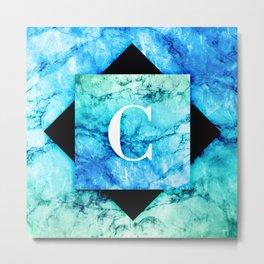 C - Monogram Vivids Metal Print